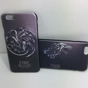 Pair or 2 Game of Thrones iPhone 6 Cases.